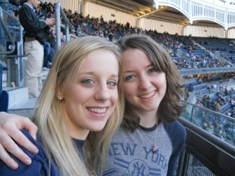 Mado and me at a Yankees game last April.