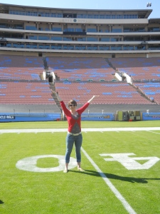 When you're watching the  Rose Bowl tomorrow, picture me standing on the field!