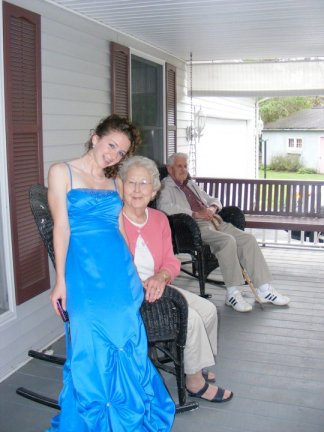 Yep. Me. Grandma. Braces. Papa in the background a year before his death.