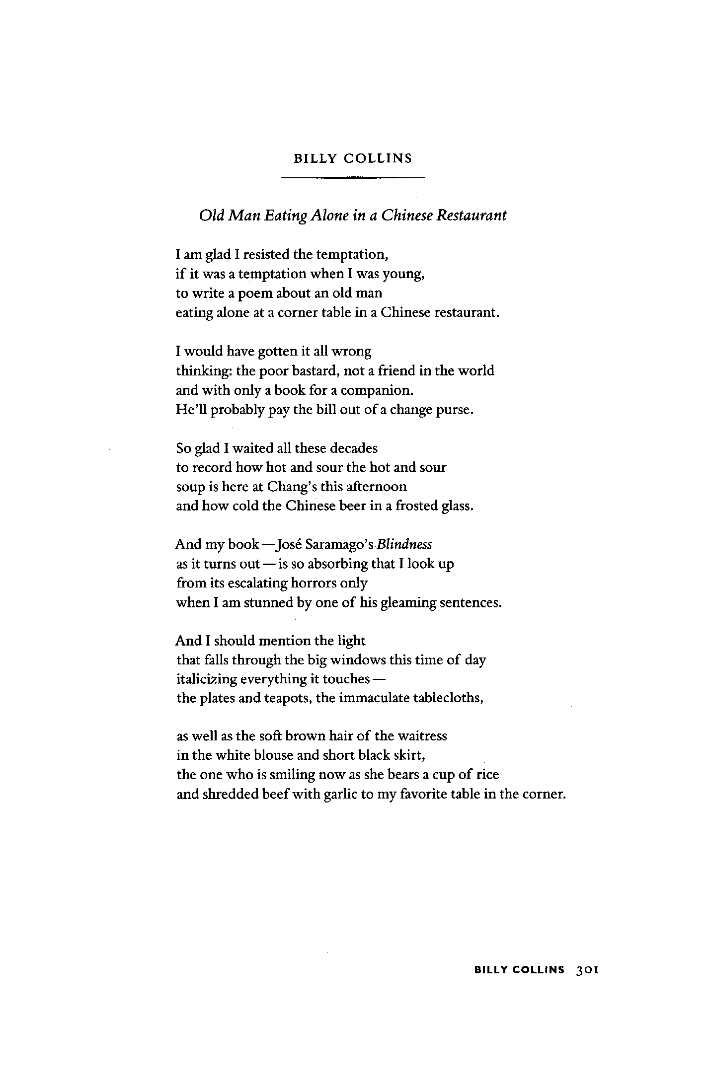 introduction poetry billy collins essay